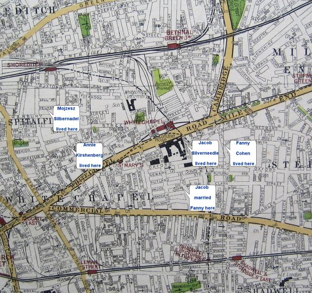 East End Of London Map.Zylbernadel Map London East End 1922